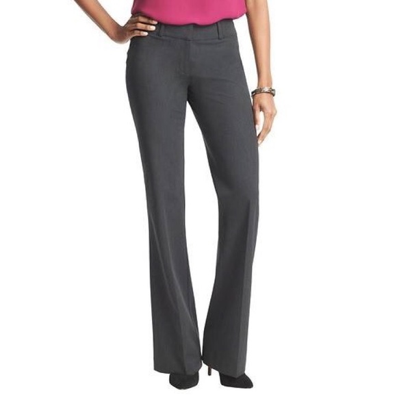 Ann Taylor LOFT Custom Stretch Trousers Pants in Julie Fit Various Size NWT Grey